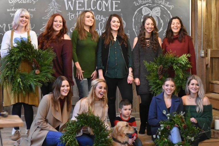 Holiday Wreath Making Workshop At Springhouse Gardens