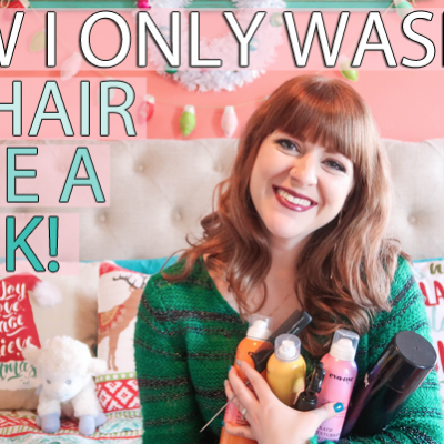 How I Only Wash My Hair Once A Week + Eva NYC GIVEAWAY!