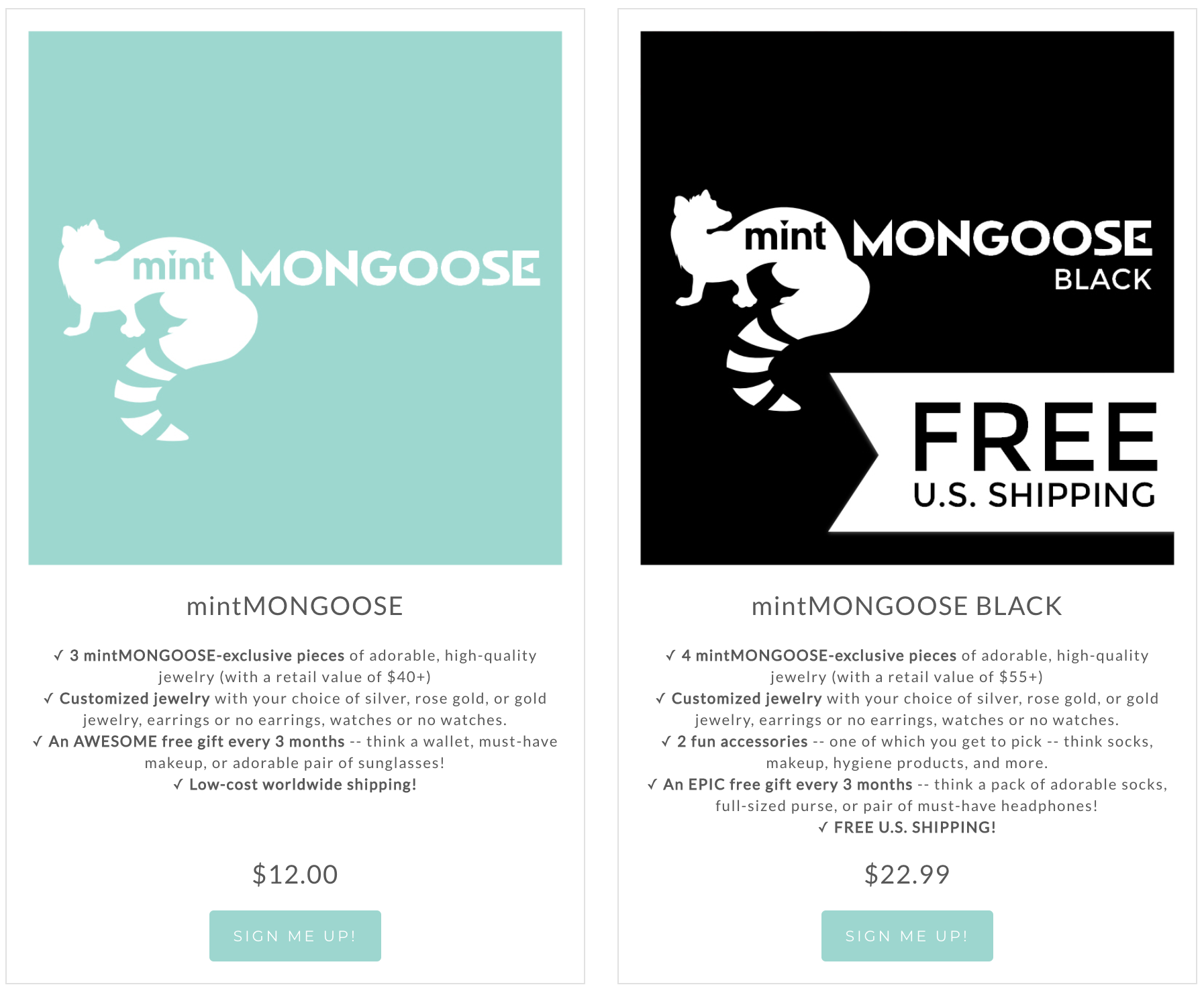 MintMONGOOSE Subscription