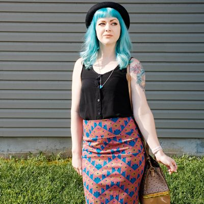 What I Wore: Turquoise Blue